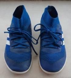 Chuteira Futsal Adidas Nemeziz original azul infantil - Centro SP