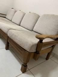 Vendo jogo  de sofá  imbuia restaurado