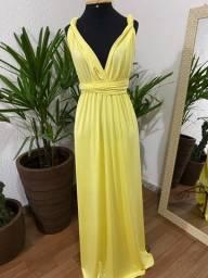 Vestido multiformas amarelo