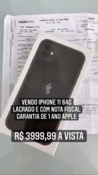 IPhone 11 64g lacrado e nota fiscal