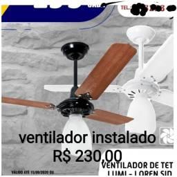 Ventilador de teto instalado 1 ano de garantia