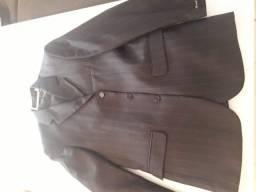 Terno Preto listrado tamanho 48 e calça 42