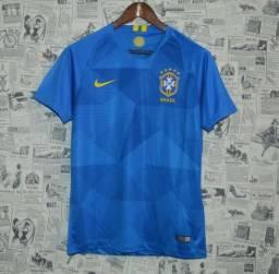 Camisa Seleção do Brasil Modelo 2(Azul) 2018-2020