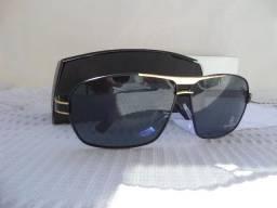 50f15809ff821 Óculos Estilo Aviador Mercedes-Benz Preto Ouro Polarizado - Importado e Novo