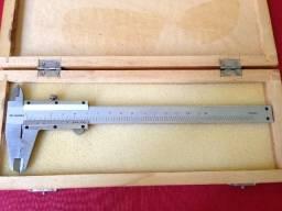 Paquímetro Starfer 150 x 0,02 mm Aço Inox com estojo madeira