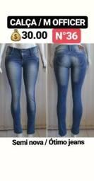 Desapego - Calças Jeans M. Officer- Somente M / 36 - Entrego