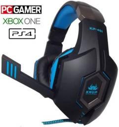 Fone gamer knup kp-451
