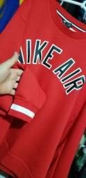 Vendo casaco Nike Air vermelho moletom XXL NOVO!