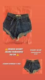 Short Jeans Tamanho 36/38