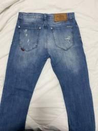 Calça Jeans rasgada masculina Ellus tamanho 40