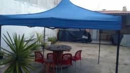 Tenda Gazebo Sanfonada em Aço 3x3 metros