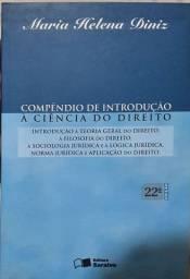 Livro Compêndio de Introdução à Ciência do Direito 22a edição