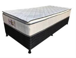 Cama Box Solteiro Elegance com Pillow Top Frete Grátis Cama Box