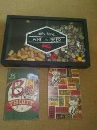 Usado, Conjunto de quadros tema Cerveja comprar usado  Olinda