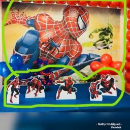 Banner e display de mesa ( Homem Aranha)