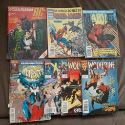 Lote de gibis Marvel e DC