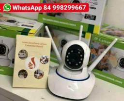 Babá eletrônica e Câmera Ip 3 Antenas Wifi Yoosee 3ª Geração Visão Noturna em HD