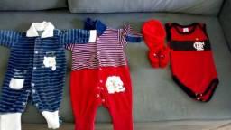 Vendo 20 peças de roupas para menino por 70 reais troco por fralda G