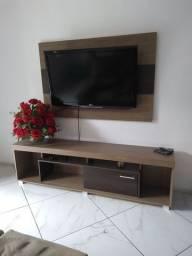 Painel tv com rack  usado tv até 60 polegadas