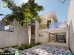 Casas com 169m² de Área Construída e 4 Suítes em Rua Privativa - Eusébio