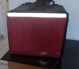 Mochila com caixa de isopor para motoboy