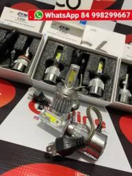 Kit Lâmpada Super LED Headlight 3D 6000K BI VOLT 12V/24V