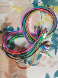 Cabos USBs coloridos