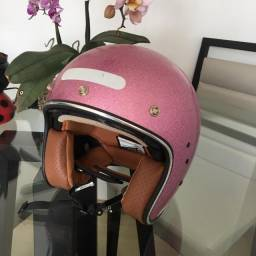 Capacete Zeus 380Fa Glitter Rosa