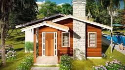 Casas pré fabricadas em madeira, mista e alvenaria