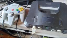 Nintendo 64 com 2 fitas originais e salvando
