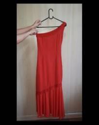 Vestido vermelho de festa