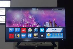 Smart tv AOC de LED 43 polegadas