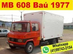 Caminhão Mercedes Bens 608 ano 1977 Baú ? Aceito Troca