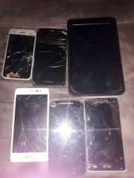 Vendo 5 aparelhos celulares e 1 tablet