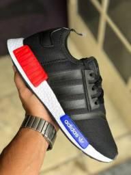 NMD adidas preto/azul/vermelho