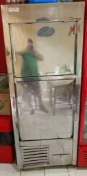 Freezer vertical duplex inox