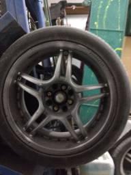 Rodas 17 pneus meia vida mult furos de 4