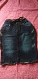 Título do anúncio: Saia jeans escuro