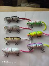 Rato articulado para pesca, duro un.