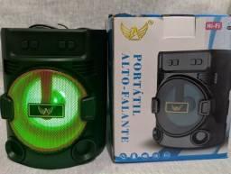 Caixinha de Som com LED e Bluetooth
