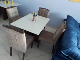 Conjunto sala de jantar 4 cadeiras NOVA entrego
