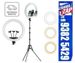 Ring Light Iluminador Anel Luz 36cm 14 Polegadas C/tripé 2,1