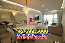 Le Boulevard, 113m², 11º Andar, Armários e Climatizado, Porcelanato Polido