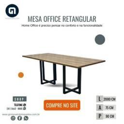 Mesa office retangular por encomenda em ate 8x cartoes