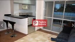 Apartamento com 1 dormitório para alugar, 52 m² - Campo Belo - São Paulo/SP