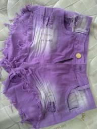 Vendo short cor lilás