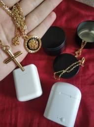 Fones correntes e pulseiras banhadas kits