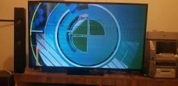 SMART TV 48 POLEGADA SAMSUNG HI-FI  CONTROLES PEZINHO  COM PEQUENO DETALHE NA TELA