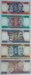 Set de Cédulas de Cruzeiros.