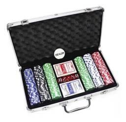 Maleta de Poker 300 fichas Não Numeradas